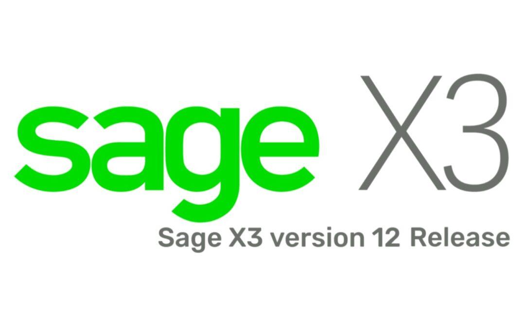 Sage X3 V12